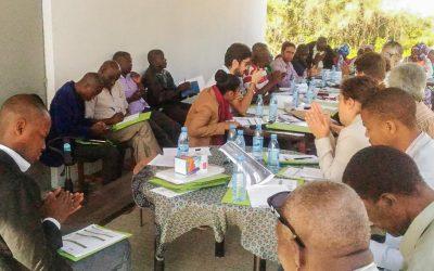 Stakeholders reunidos na Casa Agrária da UAAMAT, em Moçambique