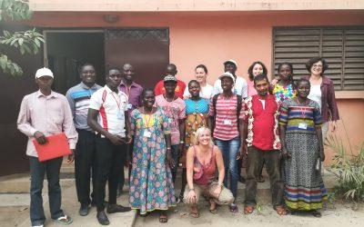 Visita da delegação da União Europeia ao Centro Comunitário de Saúde Materno Infantil de São Domingos